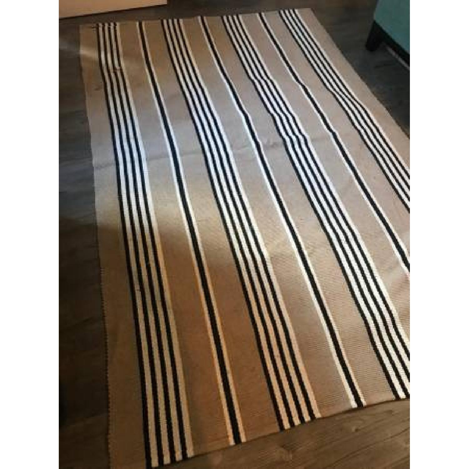 ABC Carpet and Home Beige Stripped Rug-1