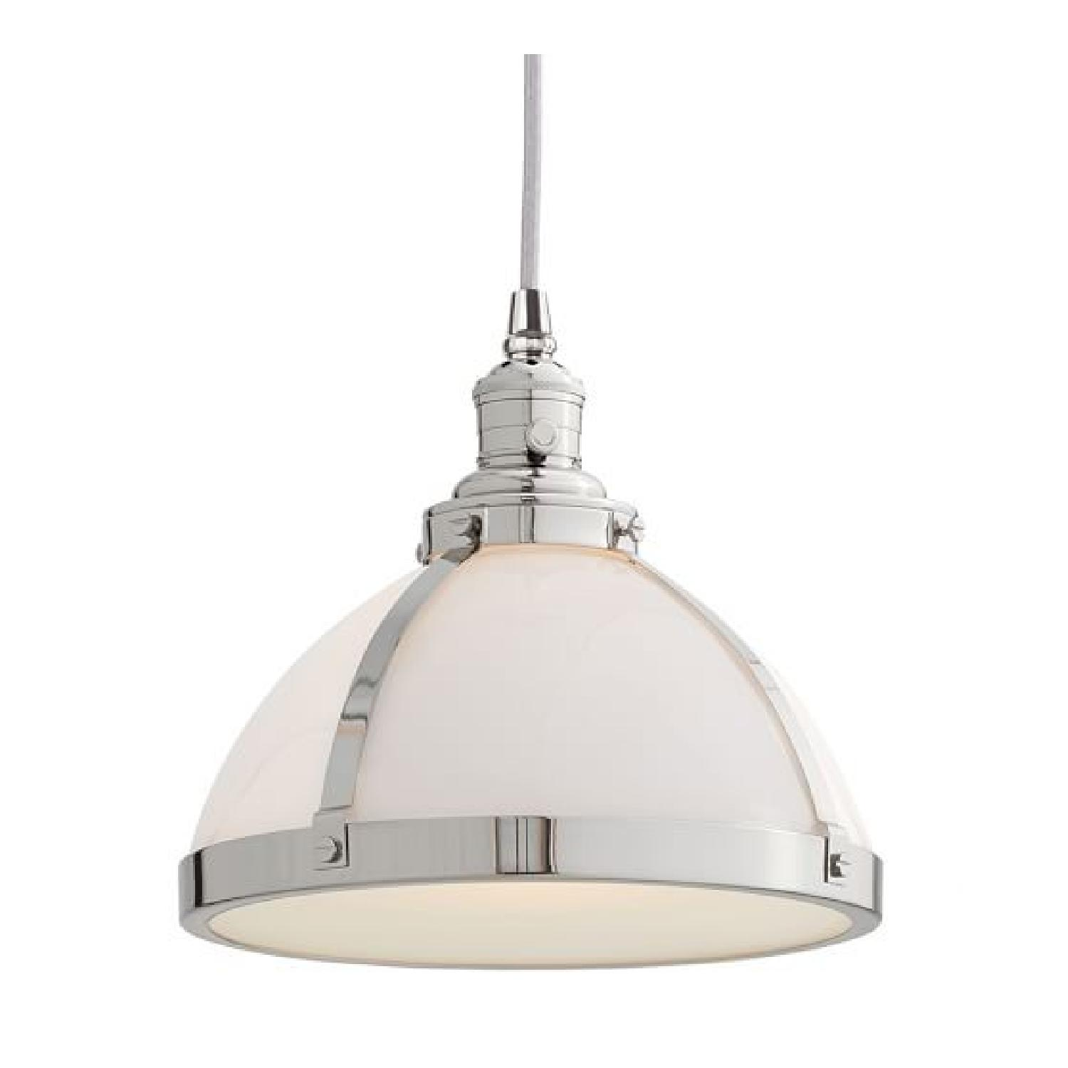 Pottery Barn Classic Industrial Cord Nickel Finish Pendants