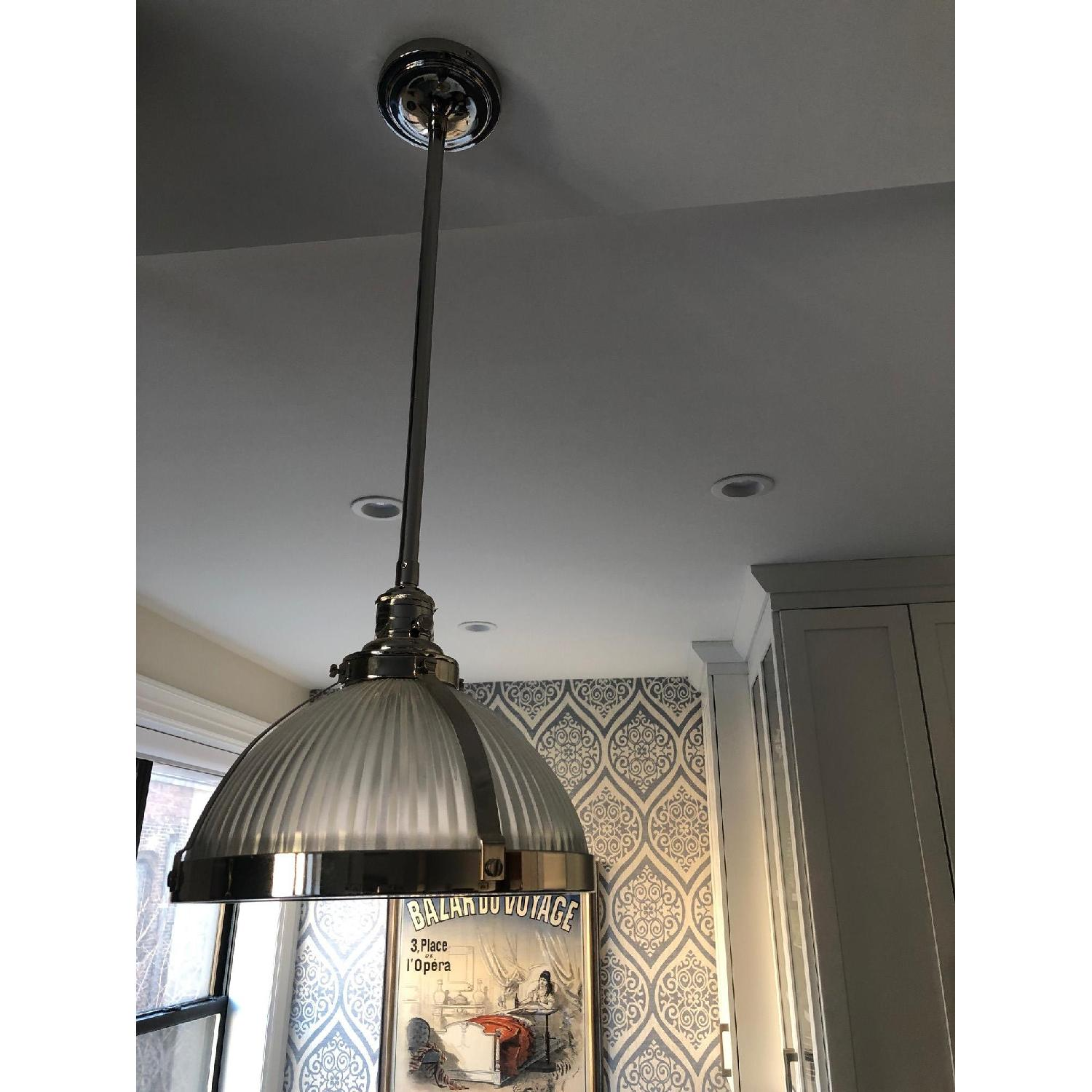 Pottery Barn Classic Industrial Cord Nickel Finish Pendants-0