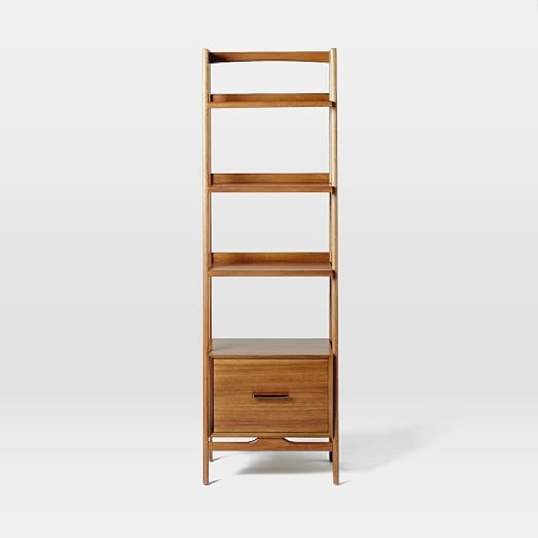 West Elm Mid-Century Bookshelves in Acorn-5