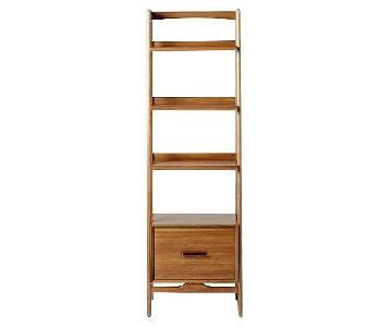 West Elm Mid-Century Bookshelves in Acorn