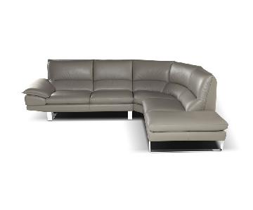 Giuseppe & Giuseppe Grey Italian Leather Sectional Sofa