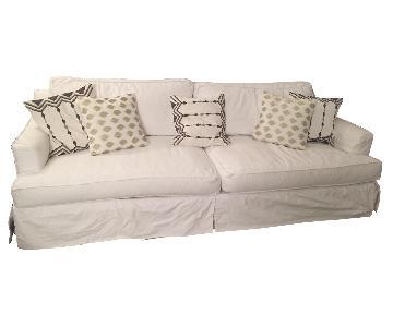 Custom White Shabby Chic Style Sofa