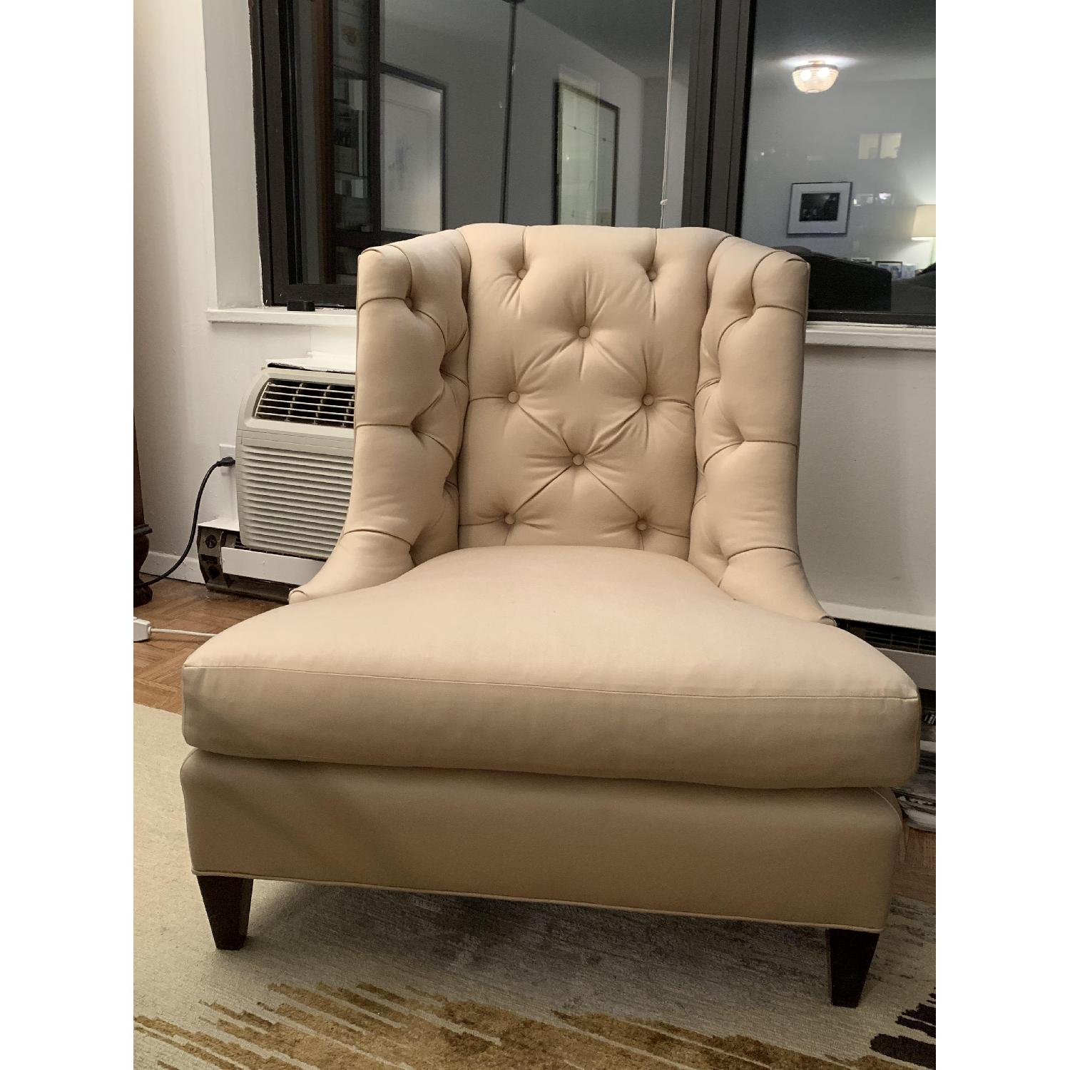 Baker Moderne Wing Chair & Ottoman by Thomas Pheasant