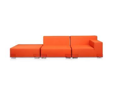 Kartell Plastics 3-Piece Sectional Sofa