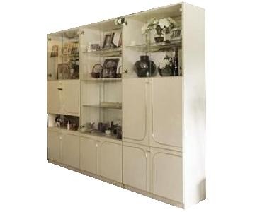Lacquer Mixed Media Wall Unit