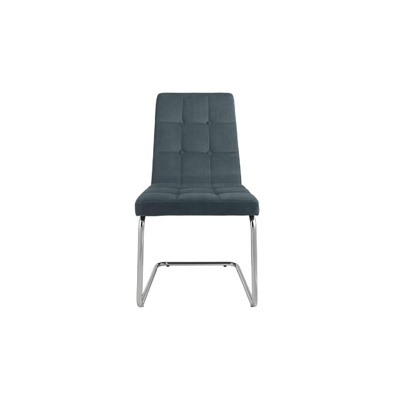 CB2 Royal Slate Blue Chair