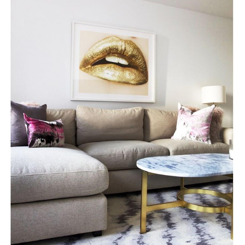 Herve Dunoyer Gold Lips-1