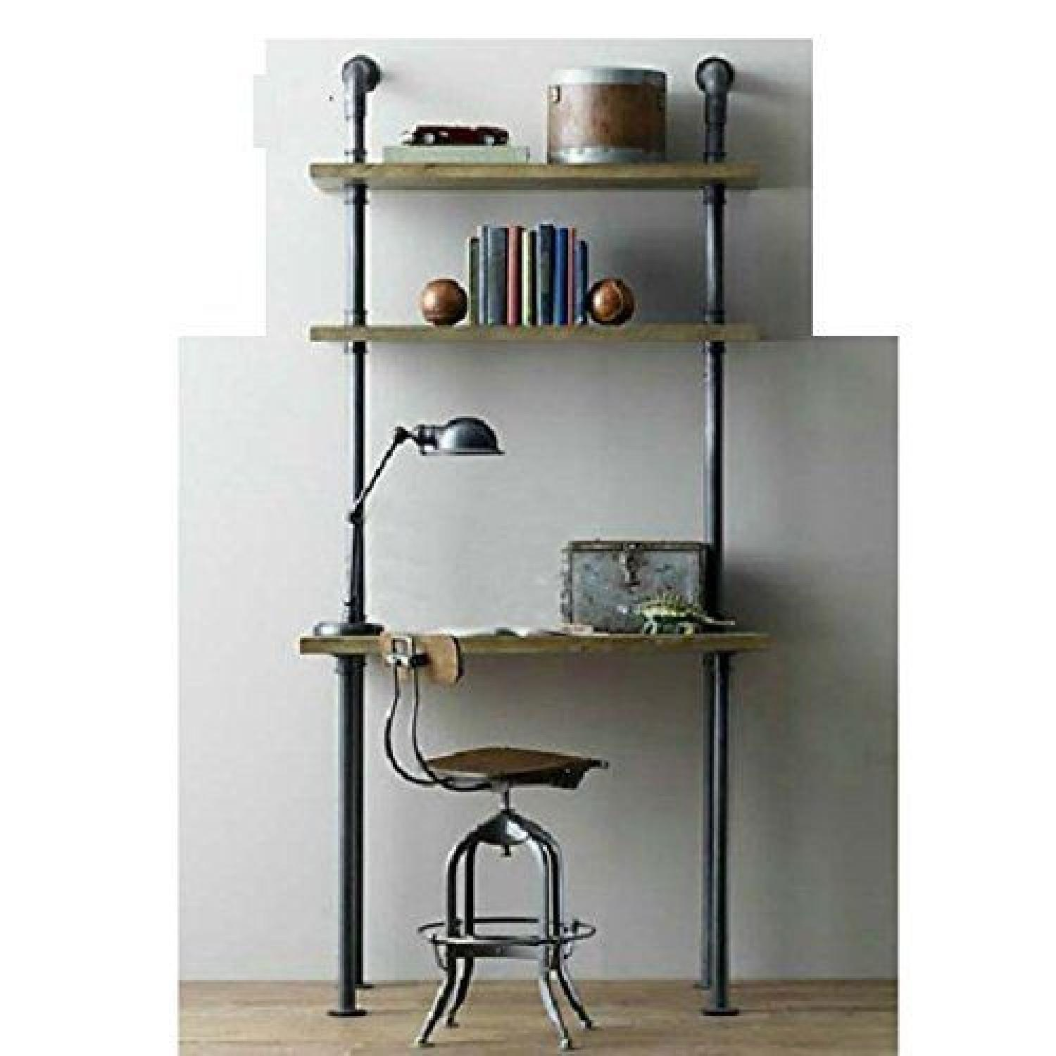DiWhy Industrial Retro Wall Mount Desk-2