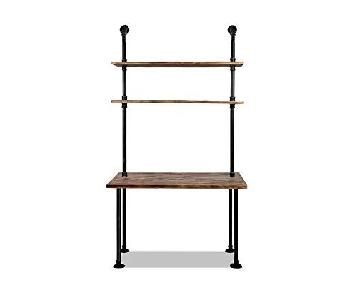 DiWhy Industrial Retro Wall Mount Desk