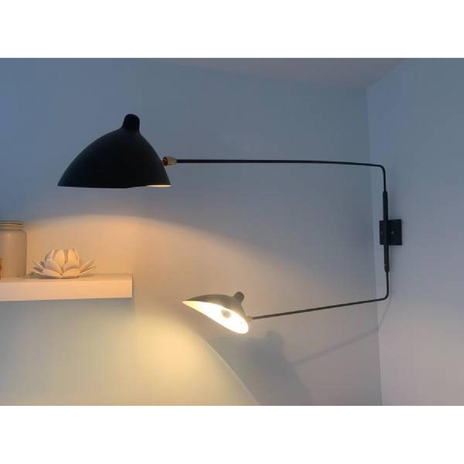 France & Son Serge Mouille Inspired Swing Arm Wall Lamp-0