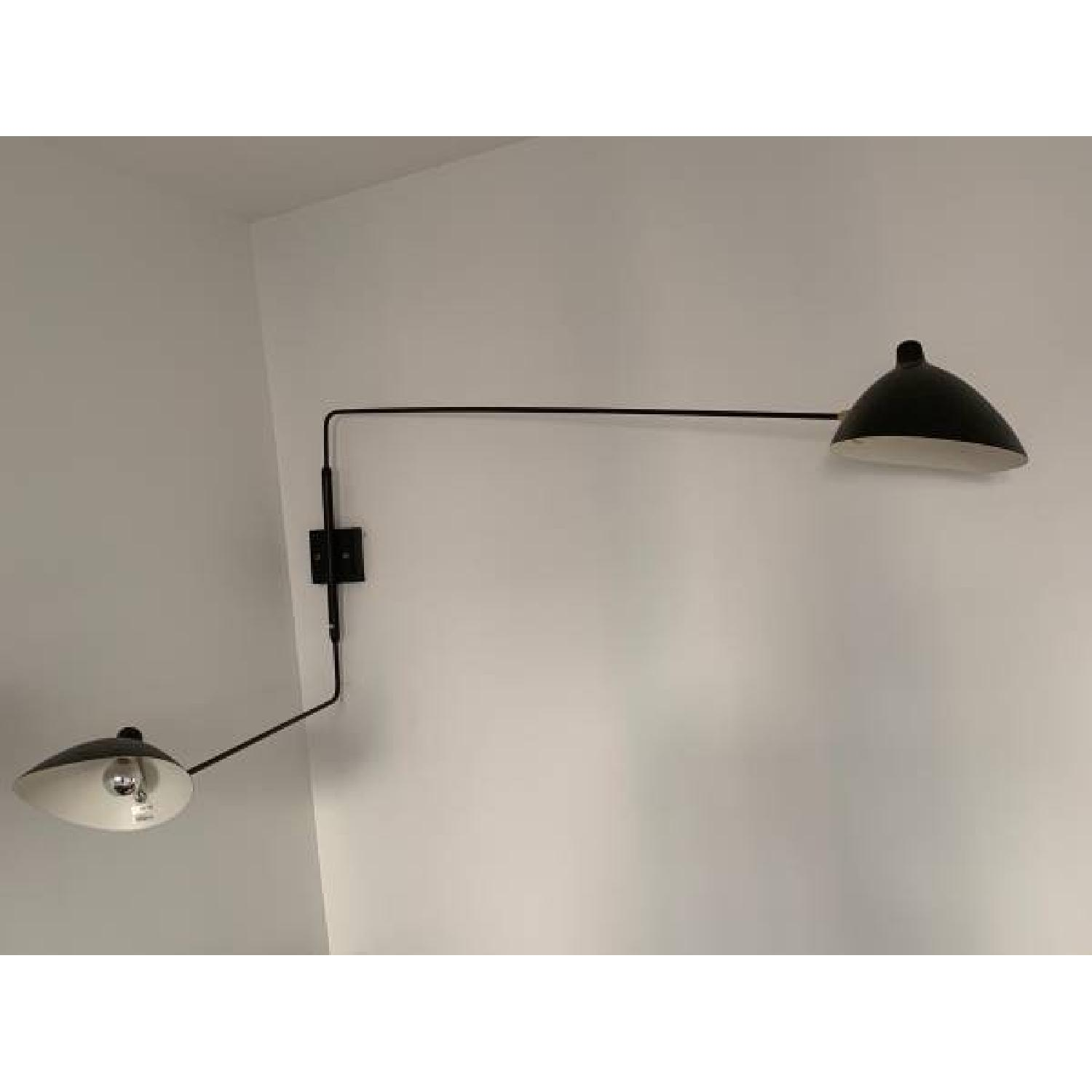 France & Son Serge Mouille Inspired Swing Arm Wall Lamp-1