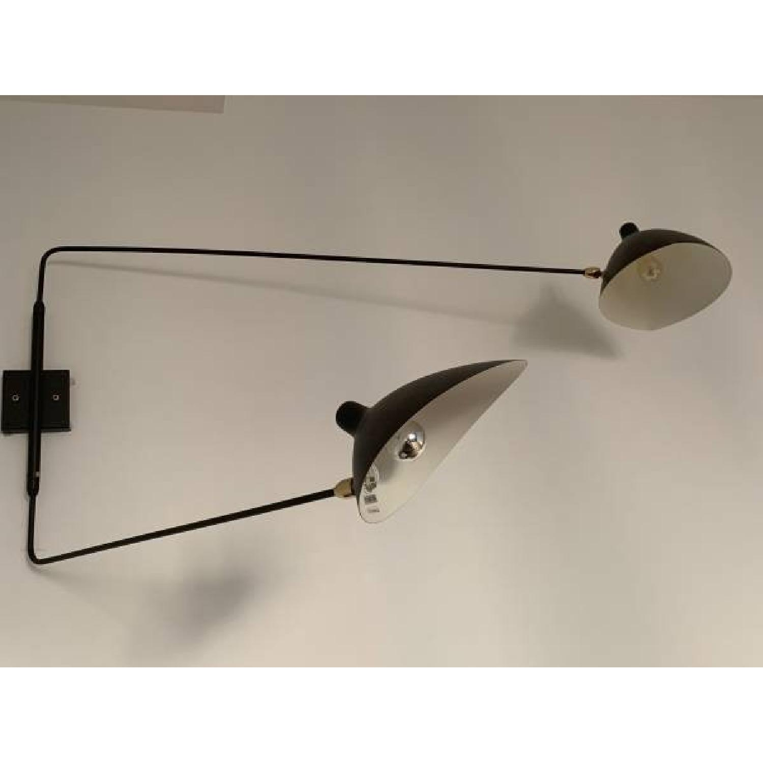 France & Son Serge Mouille Inspired Swing Arm Wall Lamp-5