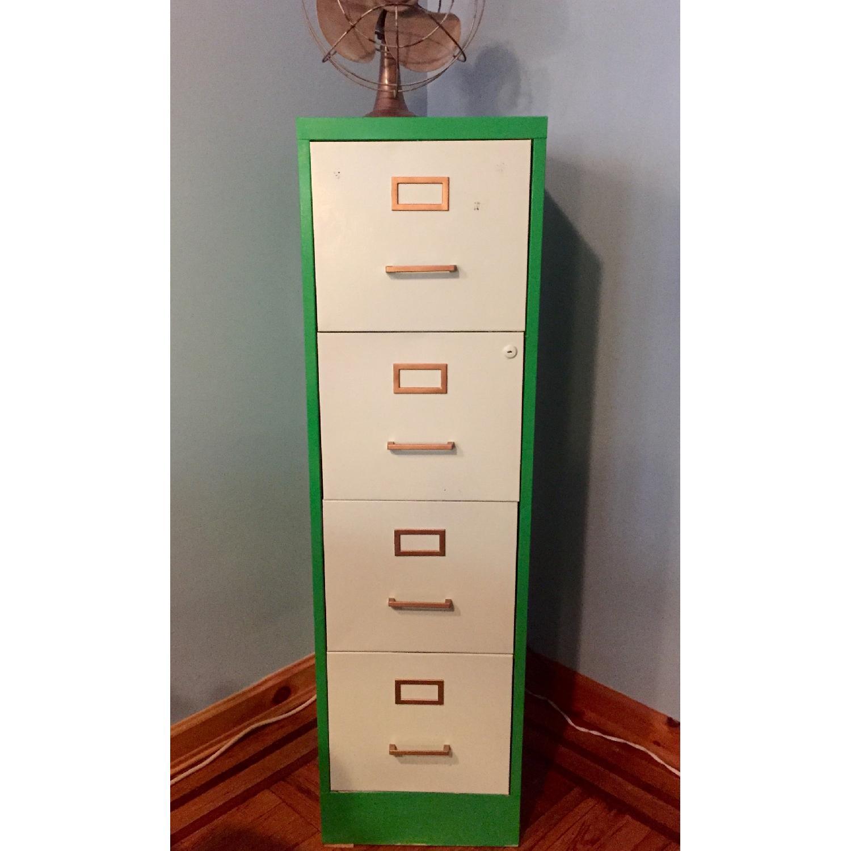 Refurbished Vintage 1970s Metal Filing Cabinet-0