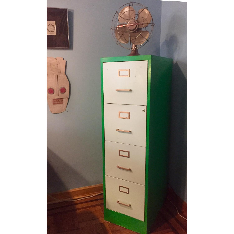 Refurbished Vintage 1970s Metal Filing Cabinet-1