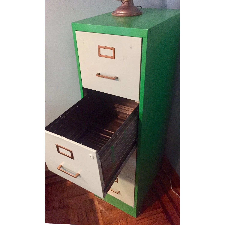 Refurbished Vintage 1970s Metal Filing Cabinet-2