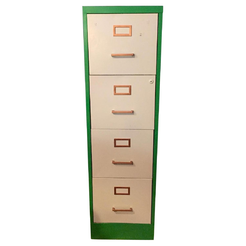 Refurbished Vintage 1970s Metal Filing Cabinet