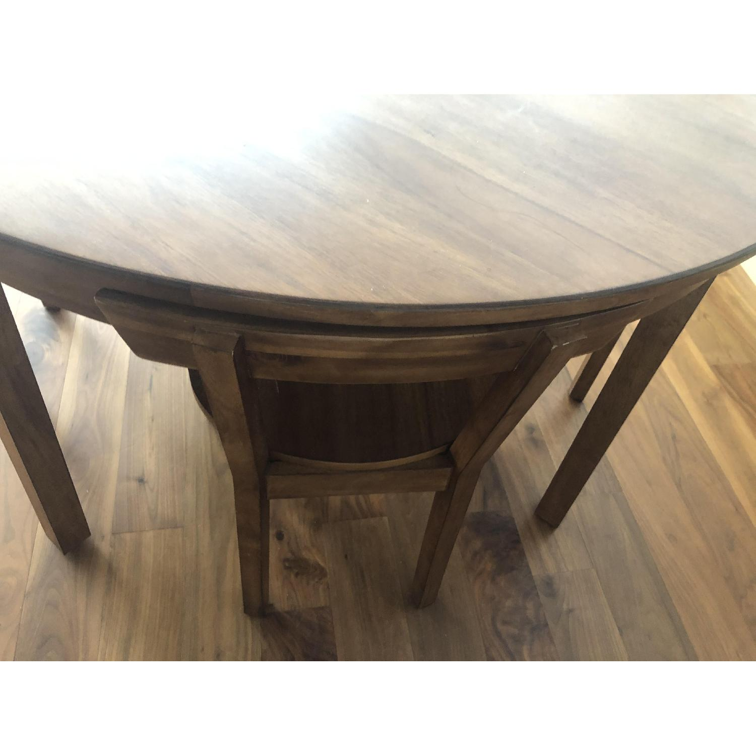 CB2 Claremont Round Wood Dining Table-1