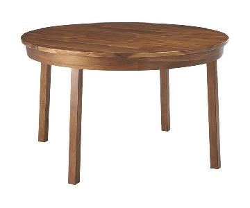 CB2 Claremont Round Wood Dining Table