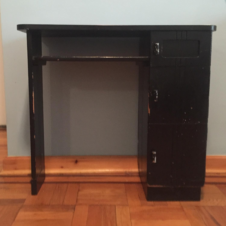 Black Small Art Deco Desk-0