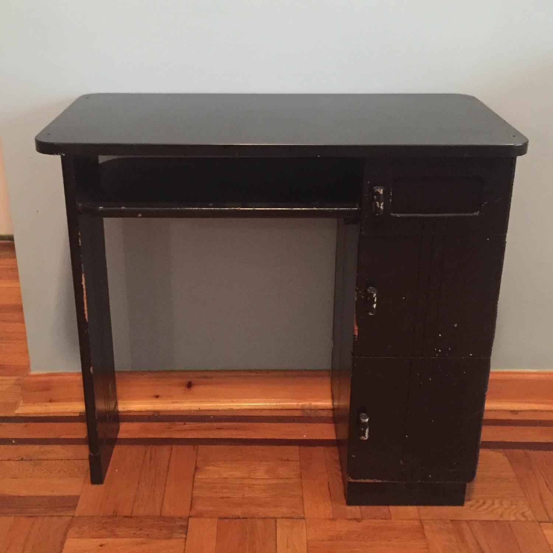 Black Small Art Deco Desk-1