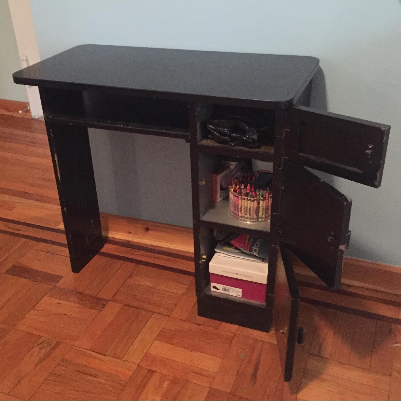 Black Small Art Deco Desk-2