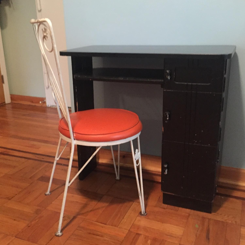 Black Small Art Deco Desk-3