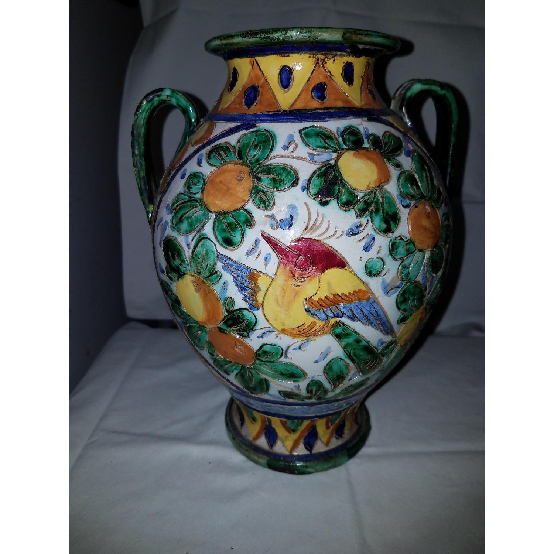 Vase Multi Color w/ Birds-4