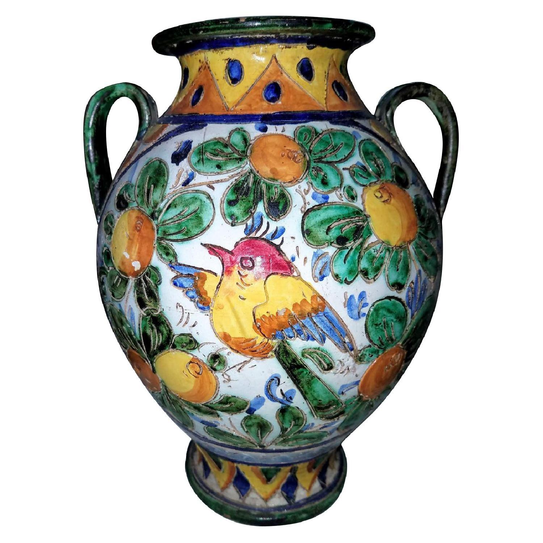 Vase Multi Color w/ Birds