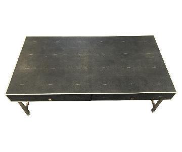 ABC Home Stingray Metal Frame Coffee Table w/ 2 Drawers
