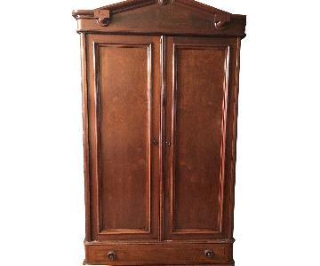 Chestnut Wood Media Armoire