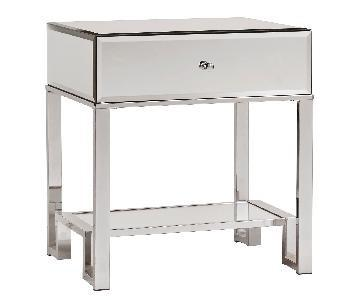 InspireQ Akiko 1 Drawer Mirrored Nightstand/Side Table