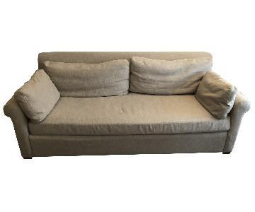 Restoration Hardware Belgian Petite Roll Arm Sofa