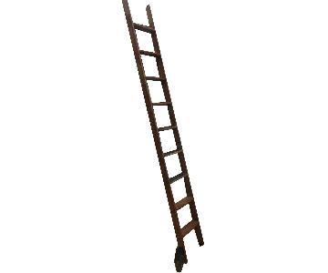 Vintage Putnam Steel & Oak Rolling Ladder