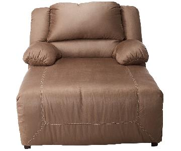 Ashley Hopkins Pressback Chaise in Mocha