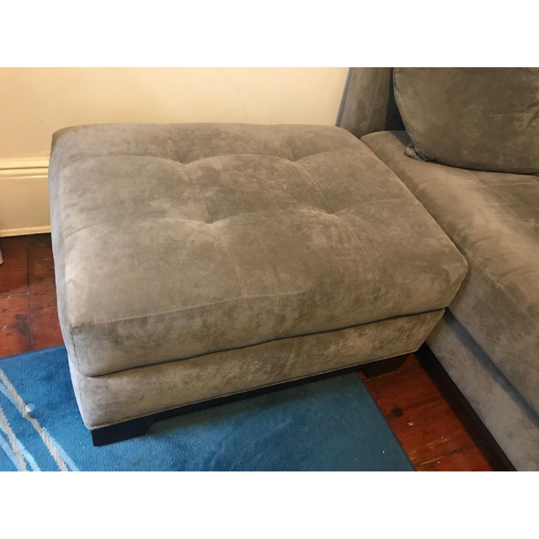 Macy's Michelle Fabric Sofa & Ottoman in Dark Grey-1