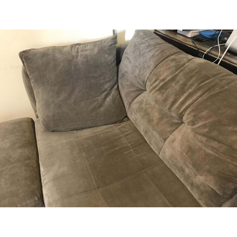 Macy's Michelle Fabric Sofa & Ottoman in Dark Grey-2
