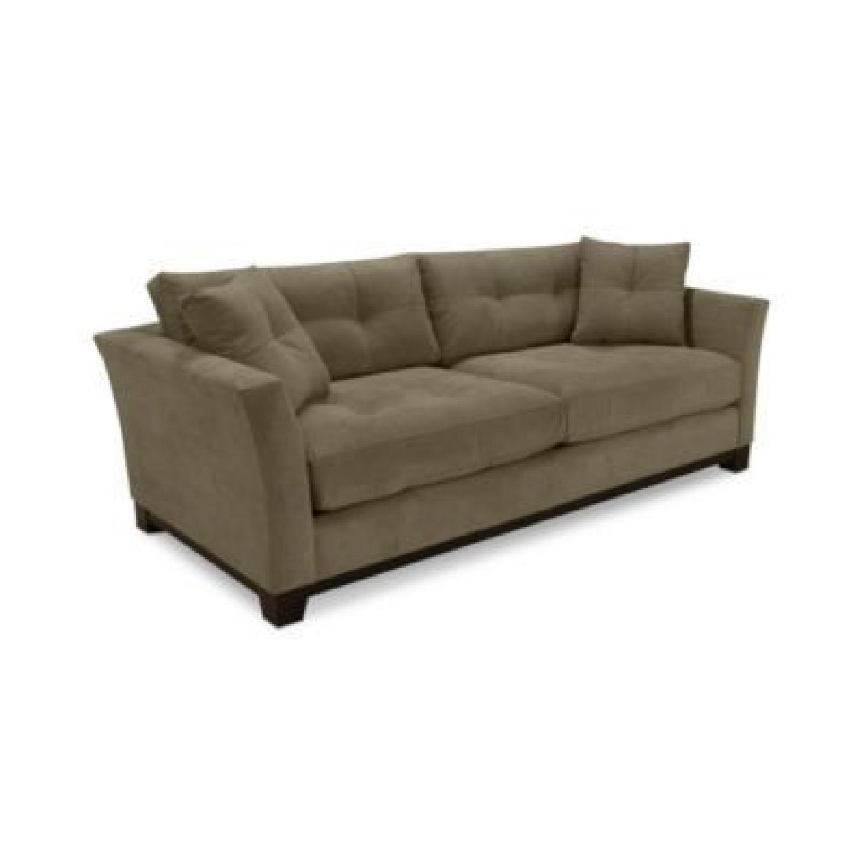 Macy's Michelle Fabric Sofa & Ottoman in Dark Grey
