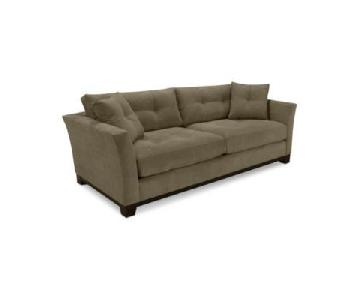 Macy's Michelle Fabric Sofa & Ottoman in Dark Grey