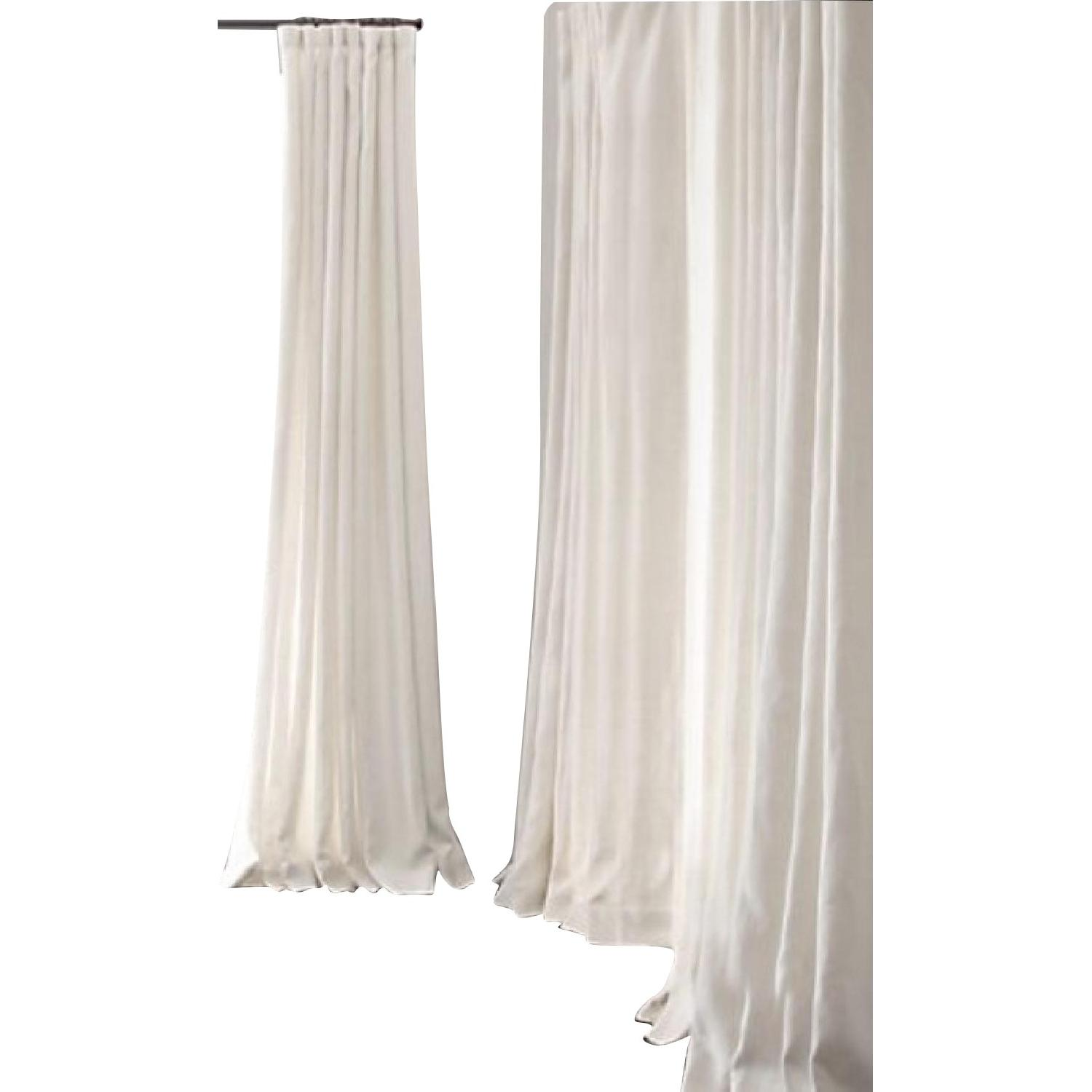 Restoration Hardware Natural Belgian Linen Drapes