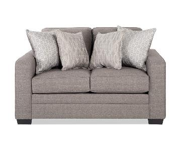 Bob's Light Grey Loveseat