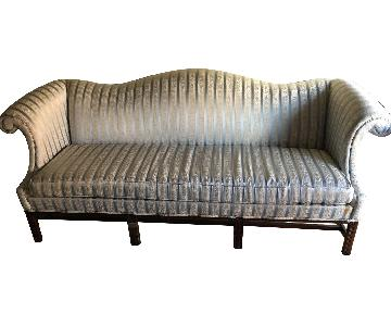 Hickory Chippendale Camel Back Sofa