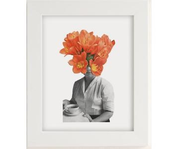 Urban Outfitters Orange Flower Art