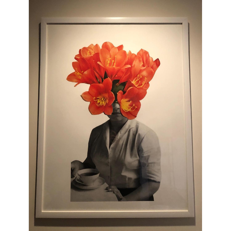 Urban Outfitters Orange Flower Art-1
