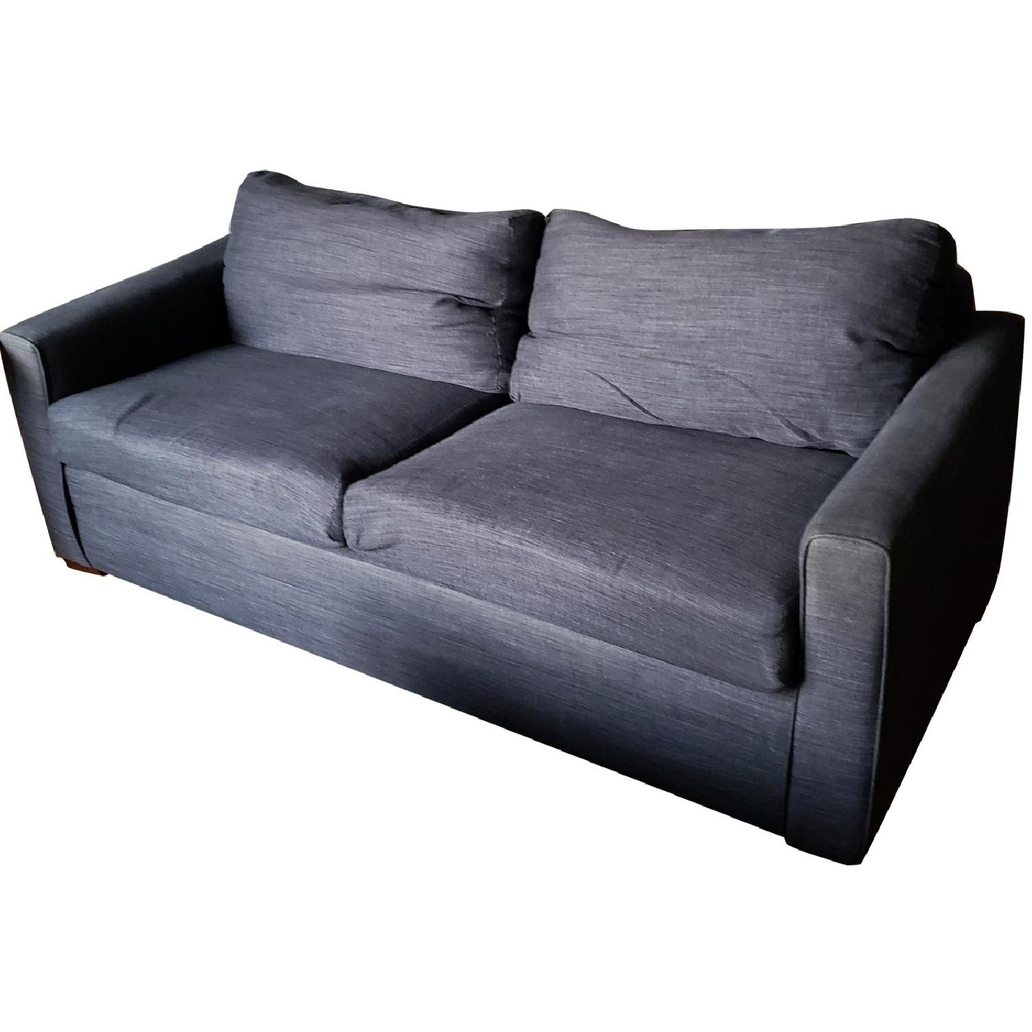 Bob's Heather Blue Queen Sleeper Sofa
