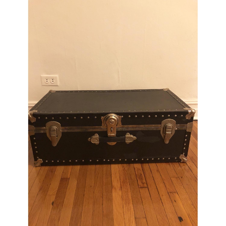Antique Trunk w/ Lock & Key-0