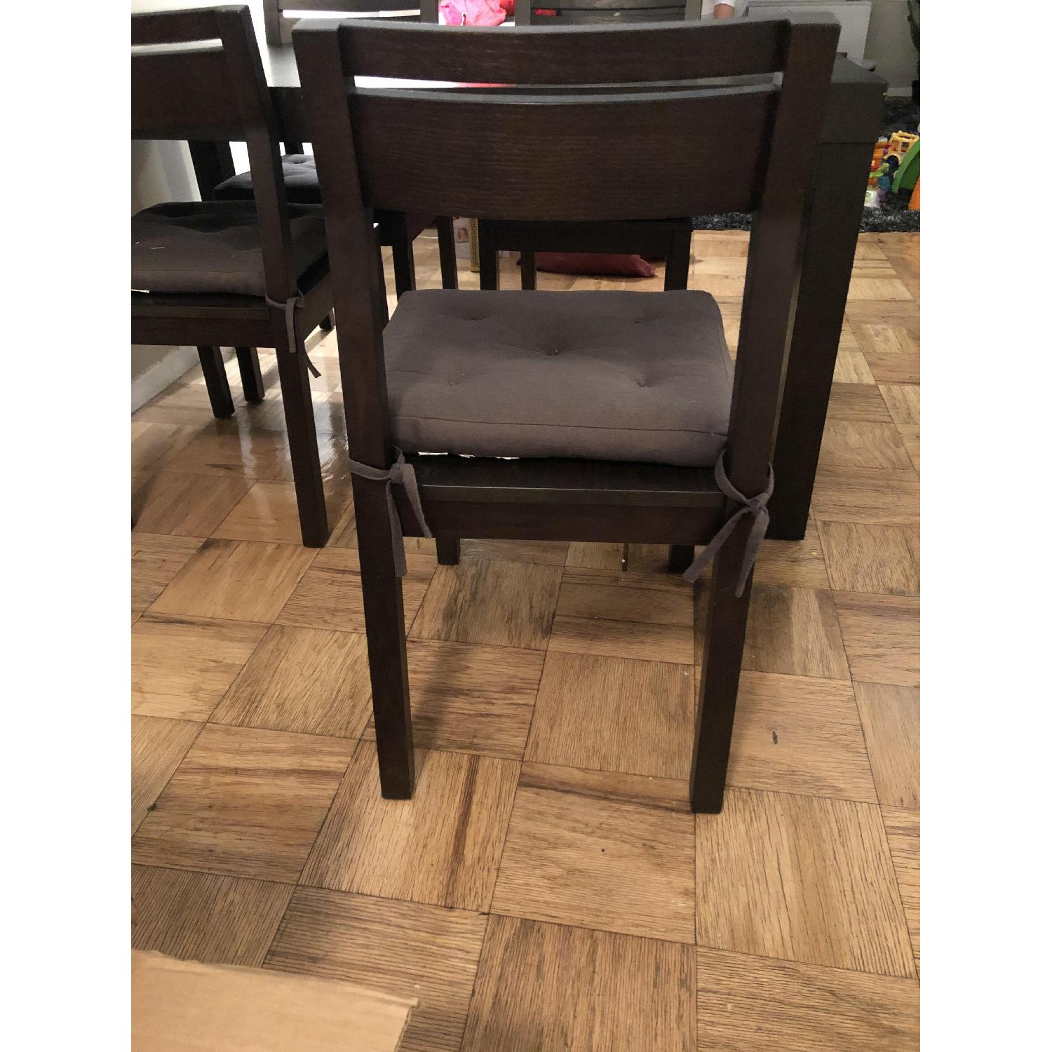 West Elm Parsons Dining Table w/4 Chairs-3
