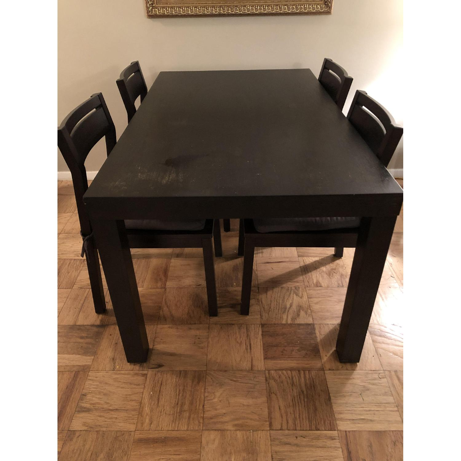 West Elm Parsons Dining Table w/4 Chairs-6