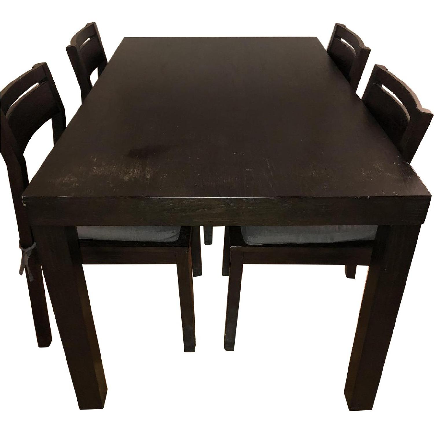 West Elm Parsons Dining Table w/4 Chairs