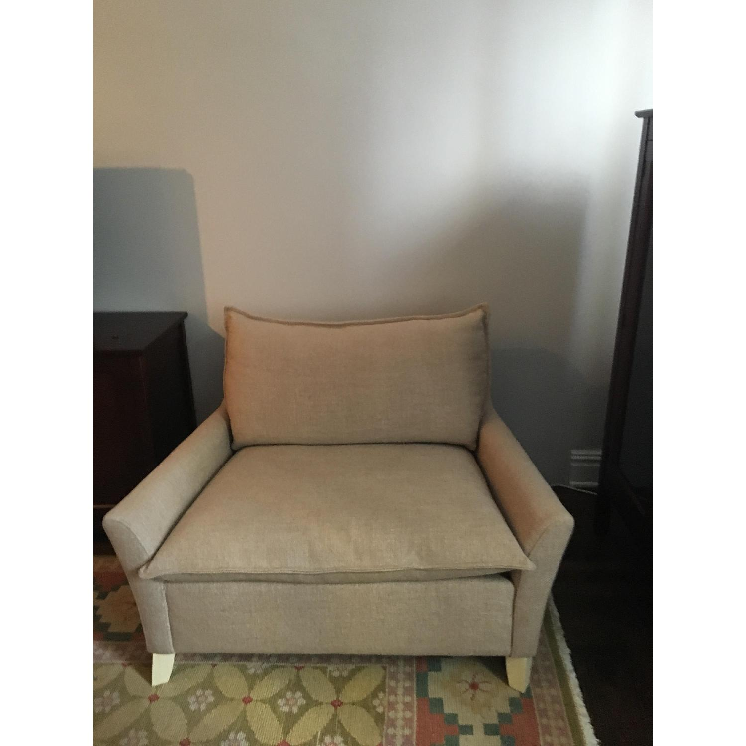 West Elm Bliss Chairs and a Half & Ottoman-0